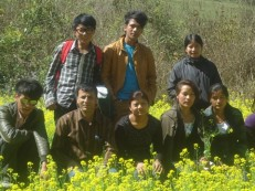 Mustard farm at Charghare VDC Nuwakot - tilingtar educational tour 2069